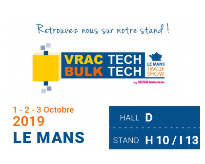 ITALVIBRAS France au VRAC TECH 2019 du 01 au 03 Octobre